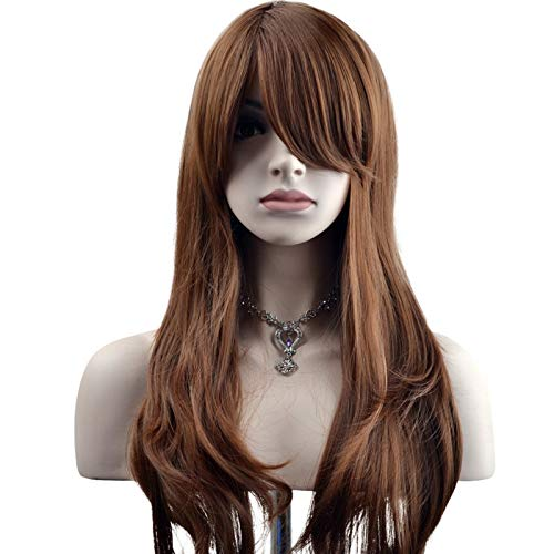 "YOPO 28"" Wig Long Big Wavy Hair Women Cosplay Party Costume Wig(Brown)"