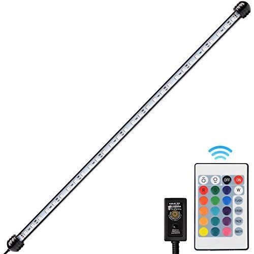 NICREW 58 cm RGB LED Aquarium Lampe, wasserdichte Tauchrohrlampe, Aquarium LED Beleuchtung, 6,5W
