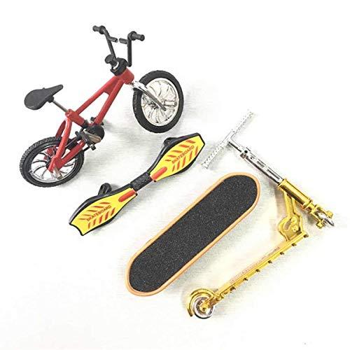 Yothtee Mini Scooter Conjunto de Dos Ruedas Juguetes Educativos para Niños Dedo Scooter Bicicleta Diapasón Monopatín
