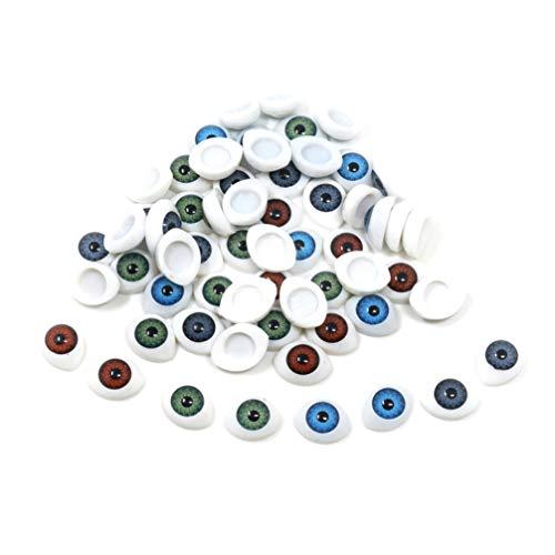 SUPVOX 60 Piezas Ojos de Seguridad de Cristal para Muñecas Oso de...