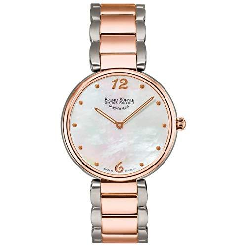 Bruno Söhnle Damen Analog Quarz Uhr mit Edelstahl Armband 17-63185-950