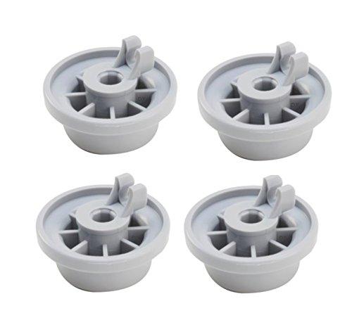 DREHFLEX - 4 Korbrollen/Rollen passend für div.Geschirrspüler/Spülmachine von Bosch/Siemens/Constructa/Neff etc. passend für Teile-Nr.00165314/165314-für den unteren Geschirrkorb / 4 Stück