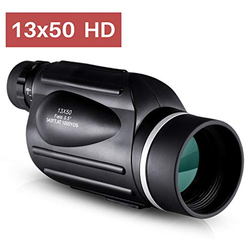 BNISE 13x50 Monocular Telescope, High Power for Rangefinder with Reticle, Bright and Clear Range of View with Bak4 Prism, Simple Focusing System, Waterproof, Fogproof, for Adults Bird Watching