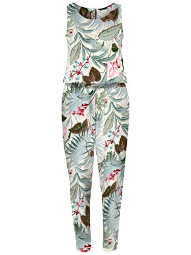 Only Onlnova Lux S/L Jumpsuit AOP Wvn Pantalones Cortos de Vestir Mujer