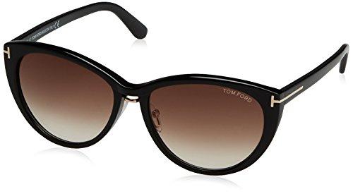 Tom Ford FT0345_Pant 140_01B (57 mm) gafas de sol, Black, 57 para Mujer