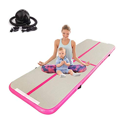 DFKDGL 3m Inflatable Air Track Gymnastics Training Mat Air Track Olympics Artistic Fitness Beginner Floor Mat Trampoline, Great for Indoor, Outdoor or Gym Use air track