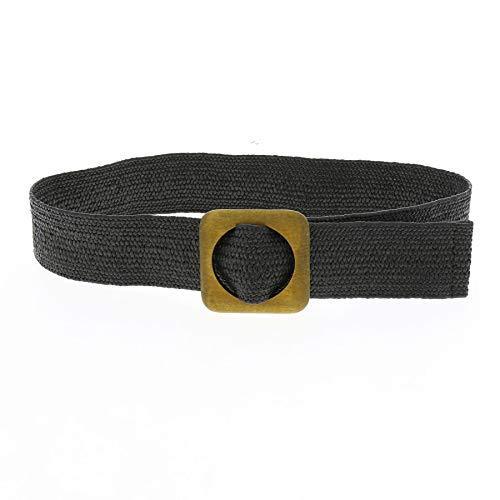 FASHIONGEN - Cinturón elástico para mujer CHARLOTTE - Negro, S-M