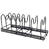 Tapas soporte de utensilios de cocina, organizador de sartenes, soporte ajustable para organización de cocina y almacenamiento