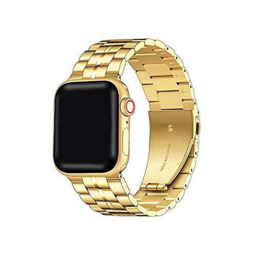 Libra Gemini Pulsera compatible con Apple Watch de 40 mm, 38 mm, correa de metal, correas ajustables de acero inoxidable para iWatch Serie 6 Serie5 Serie4 Serie3/2/1,SE (38 mm, 40 mm, dorado)