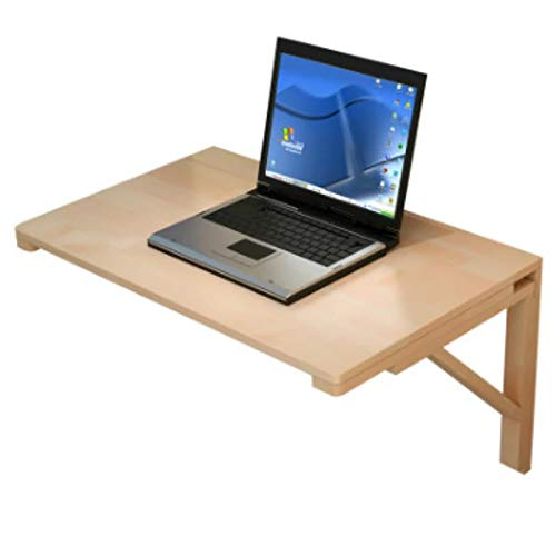 MFXI Wooden Folding Wall-mounted Drop-leaf Table,Space Saving Floating Desk,Multifunctional Laptop Table Study Table,Capacity 50KG,for Office,Living Room,Kitchen