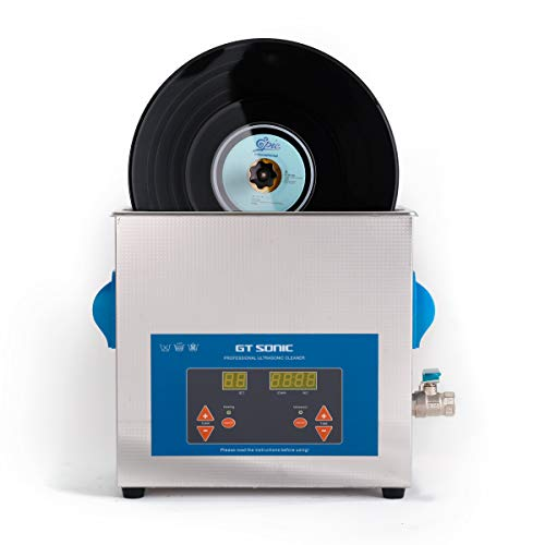 WEWU 超音波洗浄機 レコード クリーナー セット レコード 洗浄 デジタル 超音波洗浄器 6L 12インチ レコード洗浄機