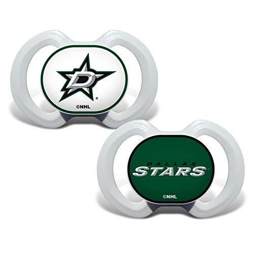 Baby Fanatic NHL Legacy Infant Pacifiers, Dallas Stars, 2 Pack
