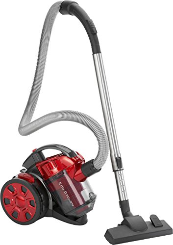 Bomann BS 3000 CB Eco-Cyclon Twin-Spin Bodenstaubsauger, beutellose Filtertechnik, Hoch-Effizienz-Partikel-Luftfilter, Metall-Teleskoprohr, rot