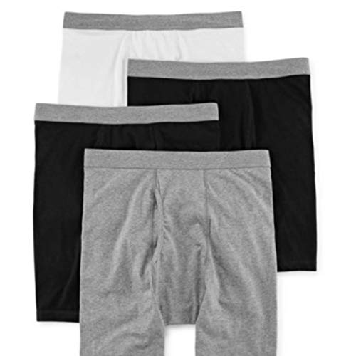 Stafford 4 Pack Cotton Stretch Boxer Briefs Black Grey (X-Large)