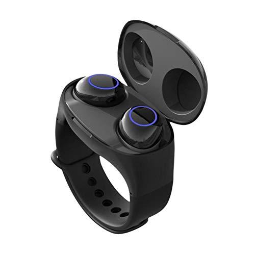 CUHAWUDBA - Pulsera Inteligente 2 en 1 con Auriculares TWS 5.0 y Cargador de Almacenamiento