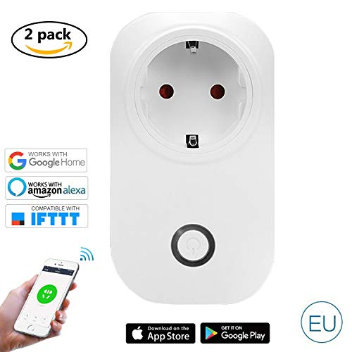 Wlan Outlet Alexa, Presa Smart WiFi WiFi Joy Spot, compatibile con Alexa Echo Dot/Plus, Google Home e IFTTT, Controllo tempo controllo app per IOS e Android per telecomando Home Office Switch