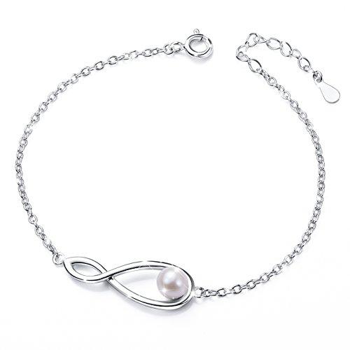 Infinity Cross Adjustable Link Bangle Bracelet by Daochong