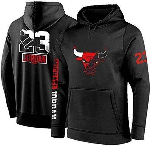 Sudadera con Capucha de Baloncesto para Hombre, Chicago Bulls # 23 Michael Jordan Jersey Sudadera Suelta Cómoda Mangas largas Sudadera Camiseta (Size : Medium)