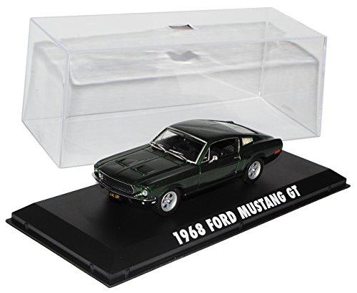 Greenlight Ford Mustang Bullit Grün Coupe Steve McQueen 1/43 Modell Auto mit individiuellem Wunschkennzeichen