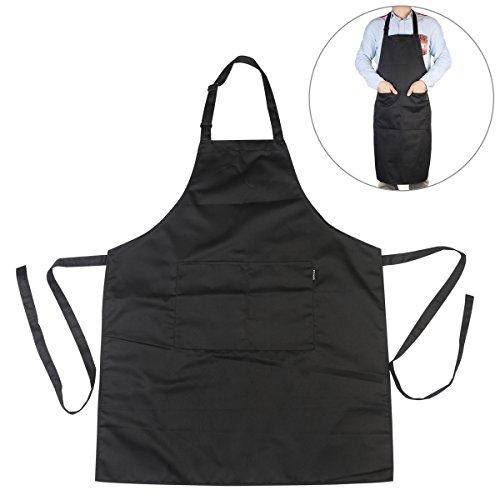 Delantal babero Chef de chefs cocina delantal con correas de cuello ajustable y bolsillos para cocinar / hornear / asar