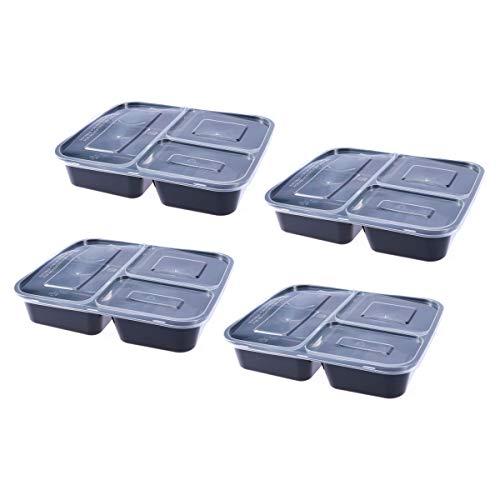 BESTONZON 4 Pcs Compartimentos de Preparación de Comida Caja de...