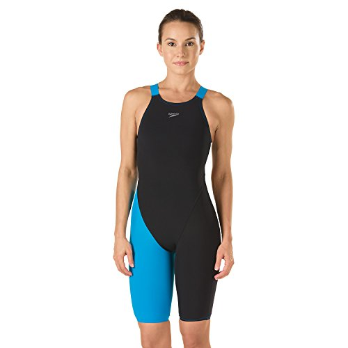 Speedo LZR Racer Pro Recordbreaker Kneeskin with Comfort Strap Female Black/Blue 25