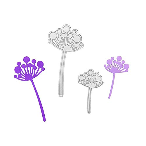 Dandelion Flower Metal Cutting Die, Die Cuts Stencil Cutting Template Moulds Scrabooking Supplies for Invitation Card Making, Paper Crafting, Envelope, Emboosing, DIY Photo Album
