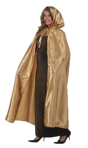 Forum Masquerade Cape, Gold, One Size Costume