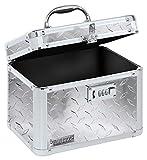 Vaultz Combination Lock Box, 7.75 x 7.25 x 10 Inches, Silver Treadplate (VZ00715)
