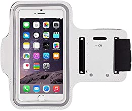 Universal Sweat-proof Fitness Arm Band Case Cover Compatible with iPhone 8 in White