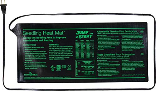 Hydrofarm Jump Start MT10006 17 Watt UL Certified Seedling 3quot x 20quot Inches Heat Mat 8875quotx195quot Black