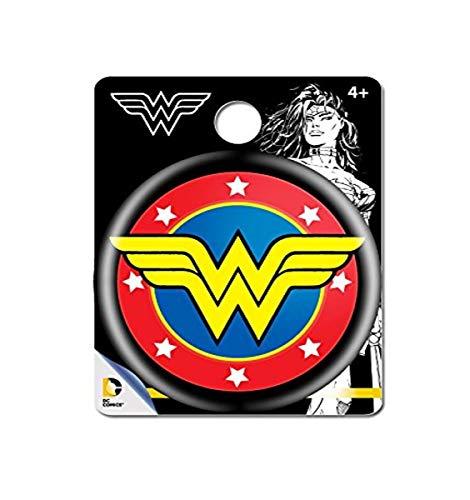 DC Comics Wonder Woman Logo Single Button Pin Action Figure Multi Color, 1.5