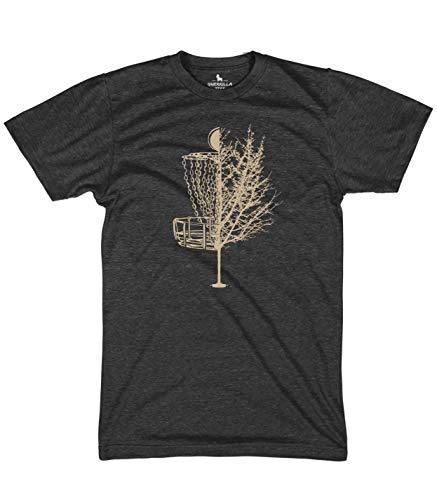 Guerrilla Tees Disc Golf Basket Tree Shirts Funny Tshirts, Heather Black, X-Large