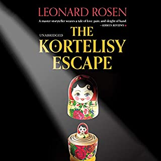 The Kortelisy Escape                   By:                                                                                                                                 Leonard Rosen                               Narrated by:                                                                                                                                 Richard Ferrone,                                                                                        Erin Spencer                      Length: 8 hrs and 49 mins     3 ratings     Overall 4.7