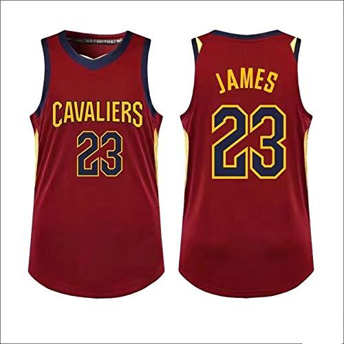Rojo - Sin Mangas LeBron Retro Chaleco De Baloncesto Jersey De Malla Jersey James Sport Top #23 Camiseta Cleveland Transpirable Sudadera Cavaliers Hombres