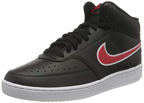 Nike Court Vision Mid, Zapatillas de Running para Hombre, Black University Red White, 47.5 EU