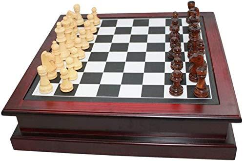 Ronglibai Ajedrez para niños Conjunto de ajedrez Conjunto de ajedrez, con cajón de Almacenamiento de Madera, Juego de Mesa de ajedrez de Viaje, ajedrez de ajedrez de Juguetes educativos para ajedrez
