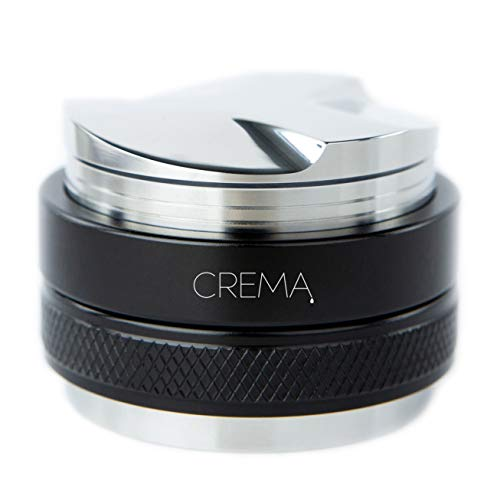Crema Coffee Products | 53.3mm Coffee Distributor/Leveler & Hand Tamper | Fits 54mm Breville Portafilters | Double Sided, Adjustable Depth | Beautiful Espresso Hand Tampers