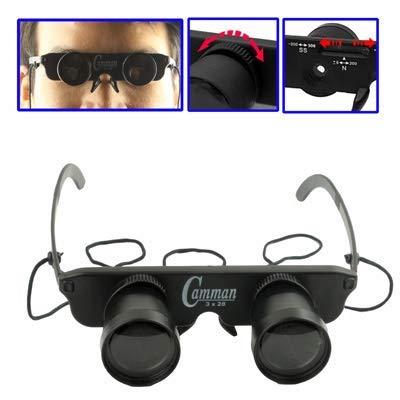 GANK YZY AYT 3x28mm plástico prismáticos de Juguete con 3 Anteojos (miopía/hipermetropía/Normal óptica) (Negro)