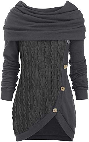 ASDFGH Preciosa sudadera con capucha para mujer, de manga larga, bonita vestido con capucha, talla L