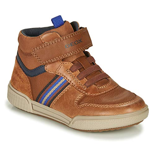 Geox J POSEIDO Boy J04BCB0CLBU, Sneaker para Niños, (Cognac/Navy), 35 EU