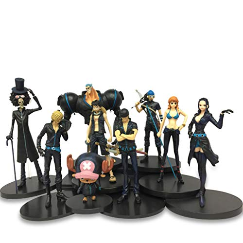 L'ensemble de 9 figurines pour fan de One Piece