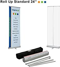 Vispronet - 24in. x 79in. Retractable Banner Stand for Trade Shows, Retail Displays and More - Stand Only, No Banner