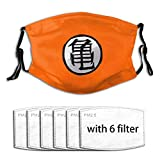 Face Mask DraGon Ball Z KaKaRotto With Extenders/Ear Savers Dust Mask For Kids 6/10/16 Replacement Filters