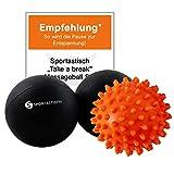 "Sportastisch Massageball Faszienball Set ""Take a break"" mit..."