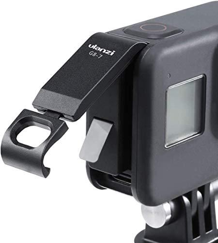Linghuang Batterie Abdeckung Abnehmbarer Ladeanschluss Adapter Typ C aus Aluminiumlegierung für GoPro Hero 8 Black Camera Zubehör Ersatz Seitentür USB-C HDMI Abdeckung