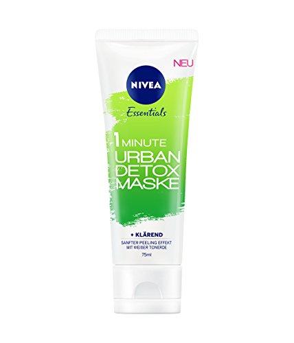 Nivea 1 Minute Urban Detox Reinigende Gesichtsmaske, 3er Pack (3 x 75 ml)