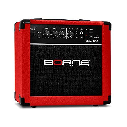 Amplificador Cubo para Guitarra Strike g30 15w - Vermelho Borne