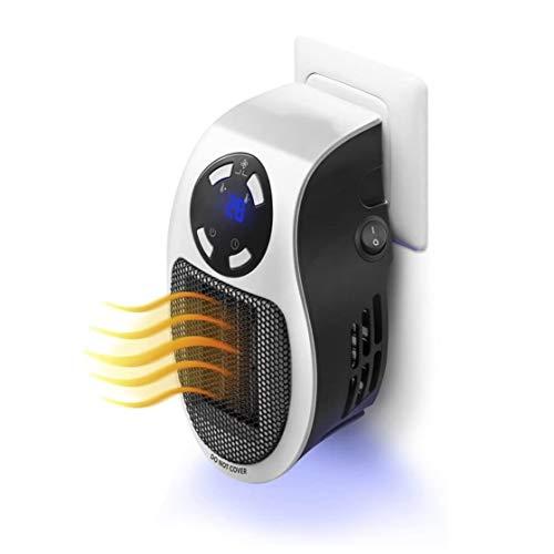 FWKTG Calefactor de Enchufe, Mini Calefactor Eléctrico,Termoventilador Calefactor Portatil, Protección Sobrecalentar, Temporizador, Ajuste Temperatura, Térmico Heater de Personal