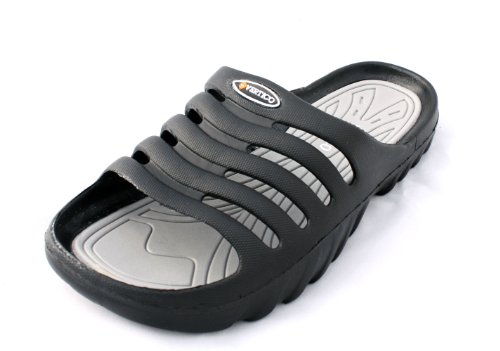Product Image of the Vertico Men's Shower and Pool Slide On Sandal, Black and Gray - 12-13 D(M) US